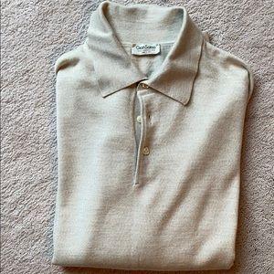 Gran Sasso cream  1/4 button sweater.
